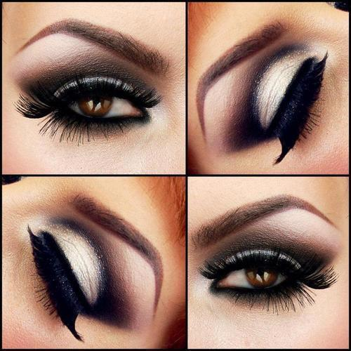 "Love the lashes, Love the shadow…I will warn for stage this look going all the way into the crease may be  too dark and may appear off stage to look like ""holes"" instead of making the eye look more open.  Takes the right eye shape to wear this look…but I LOVE it!"