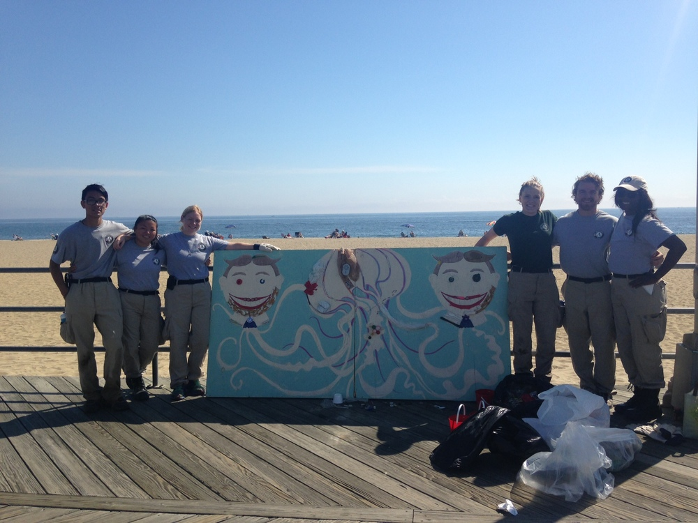 AmeriCorps volunteers lending a hand at Asbury Park in September.