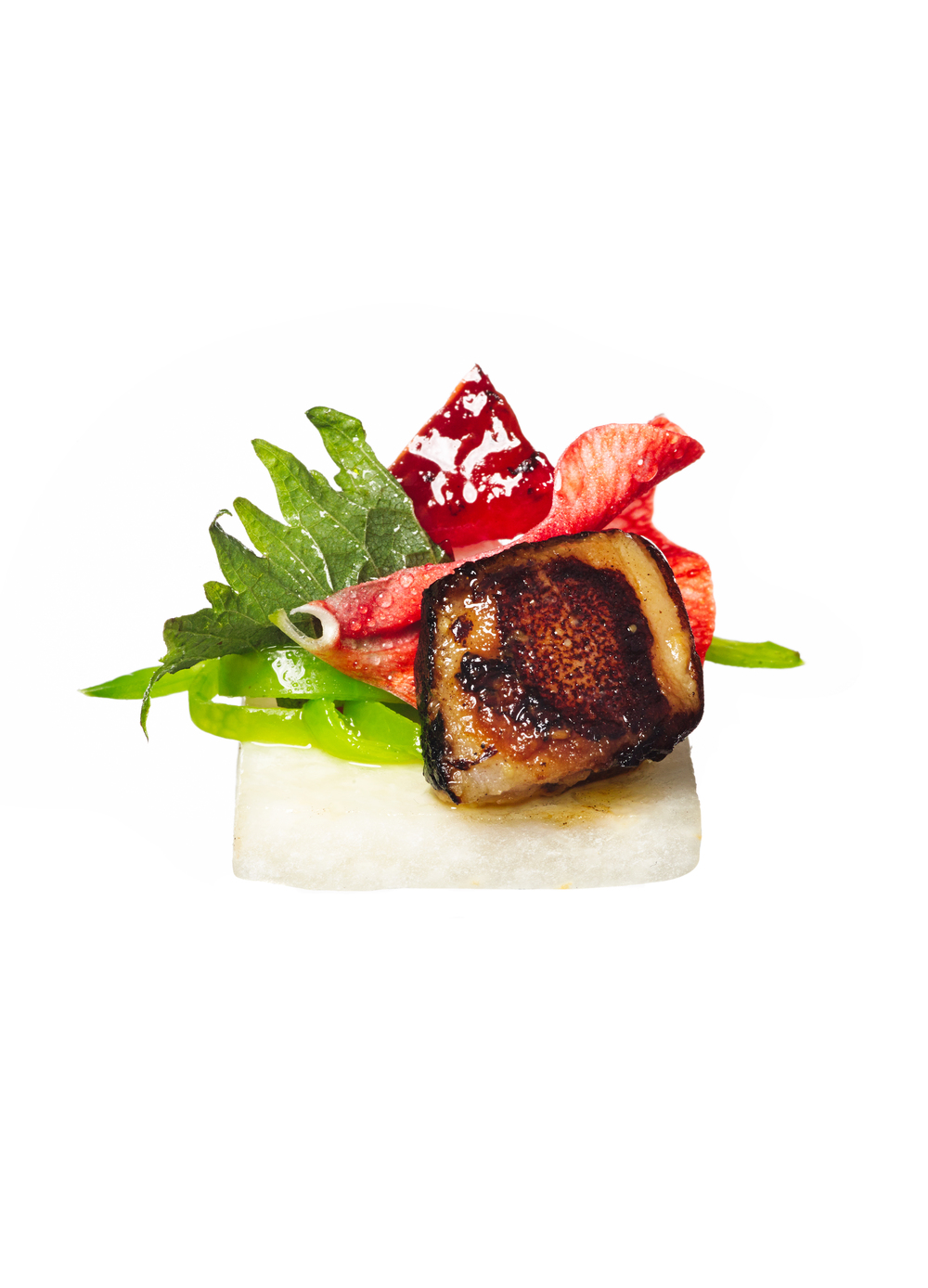 miso glazed black cod canapés