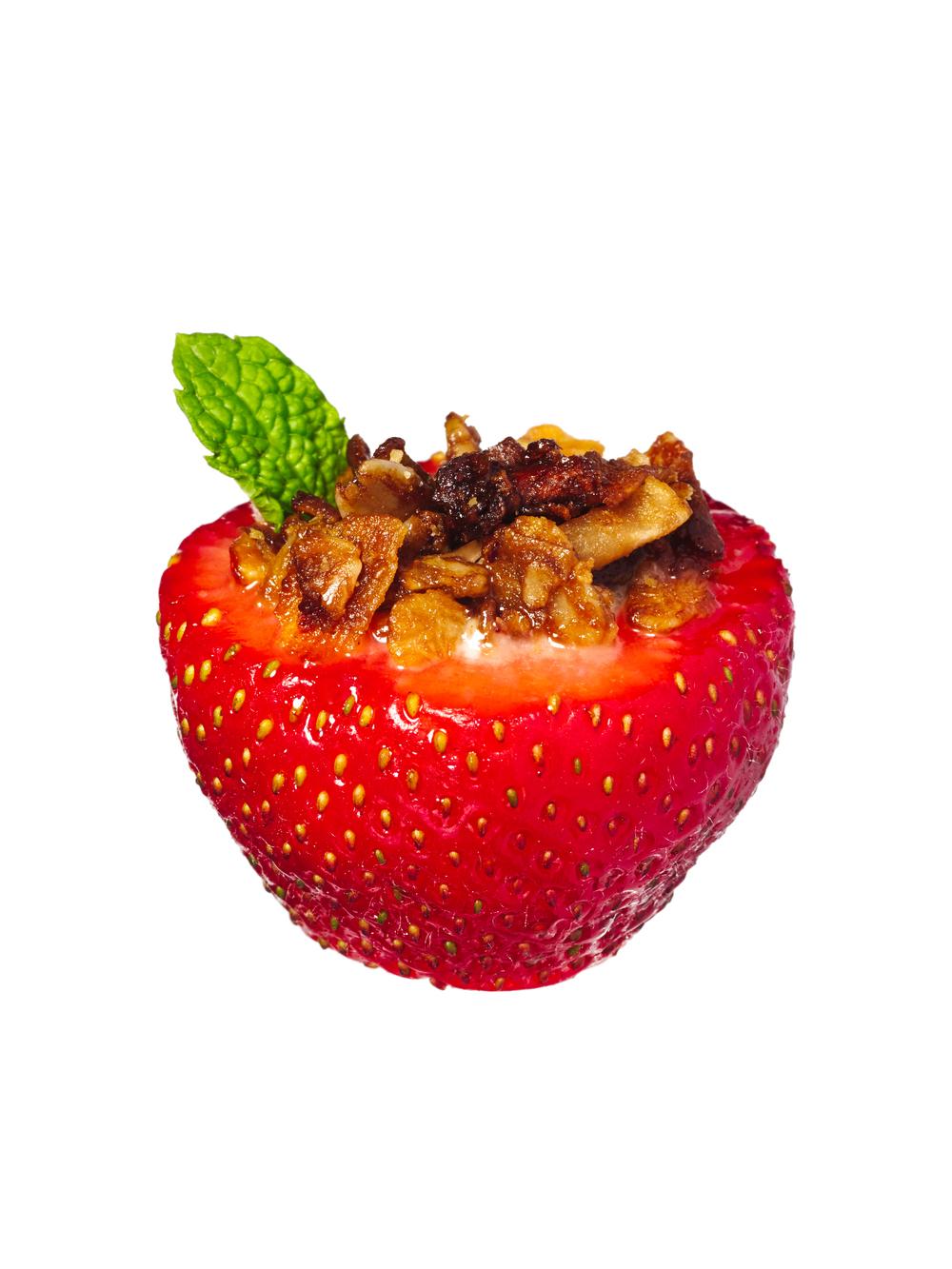 strawberry + yogurt + granola petit fours