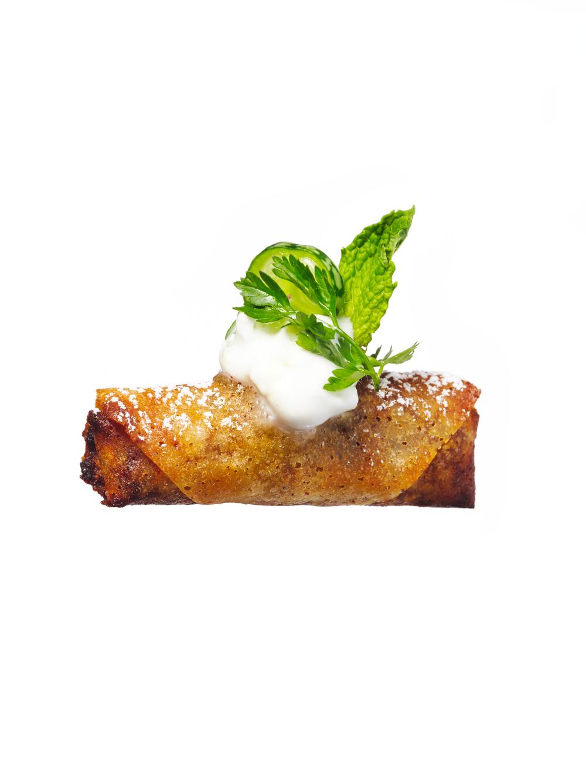 sweet pea samosa canapés