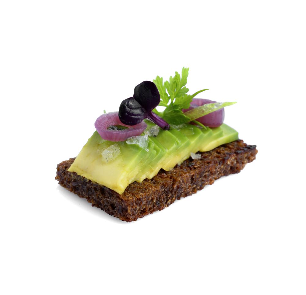 avocado toast canapés