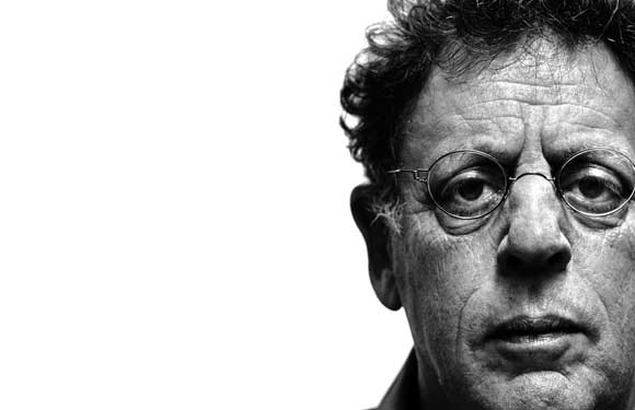The composer Philip Glass.