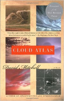 One of the many covers of Cloud Atlas, a novel published in 2004 by David Mitchell.