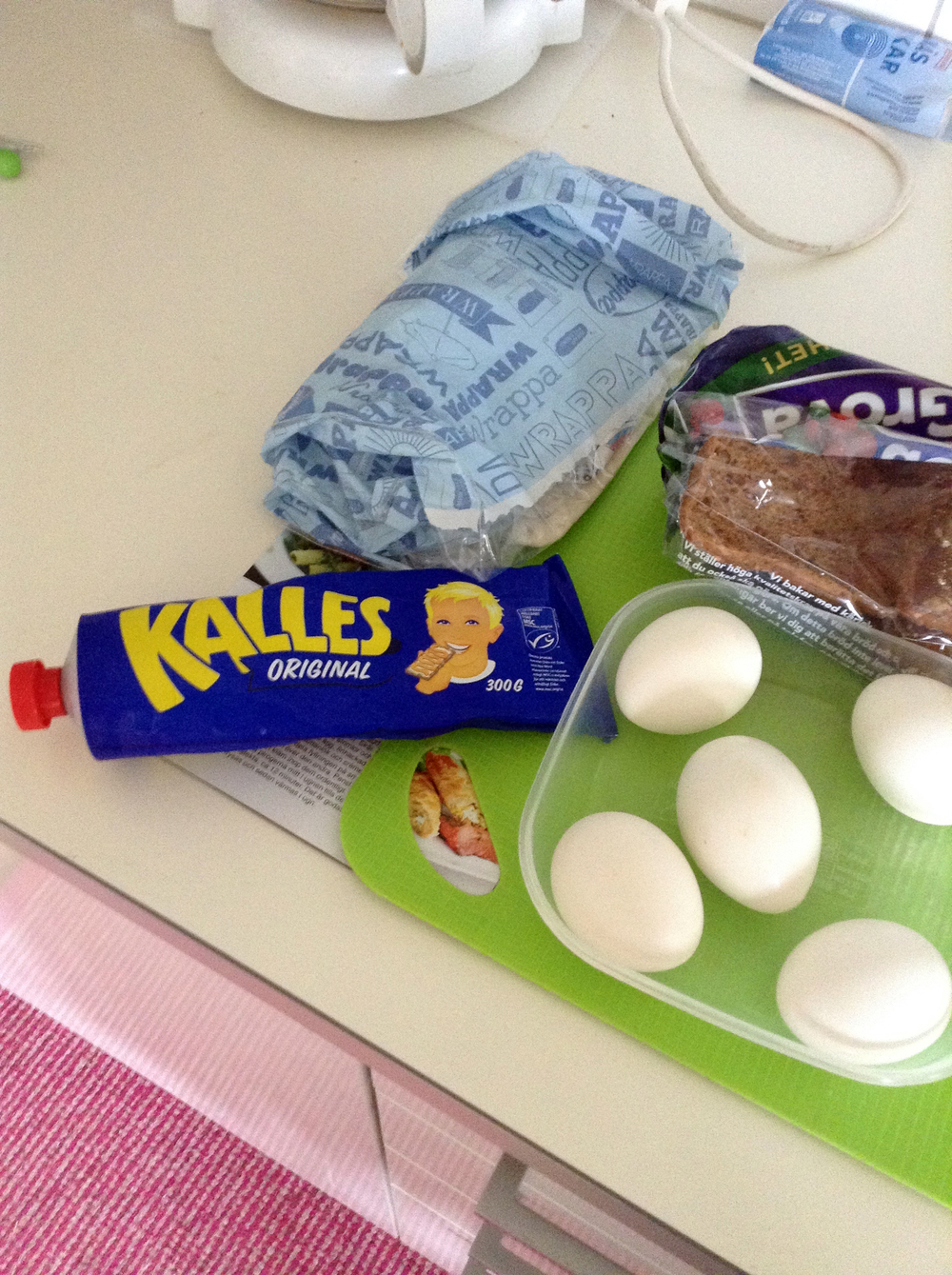 Or just eggs with Kalle's comes-in-a-tube Caviar.