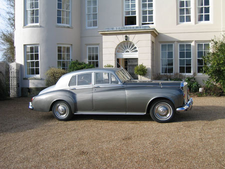 Classic Bentley S3 Silver Cloud wedding car hire Sussex Surrey