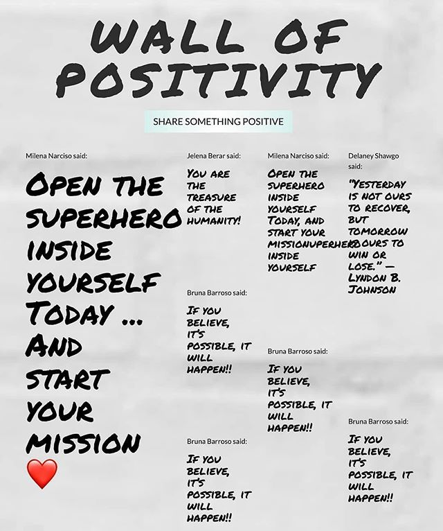 You can never have too much positivity! #TheHealer encourages you to leave an uplifting message on our Positivity Wall- join us today! #Linkinbio