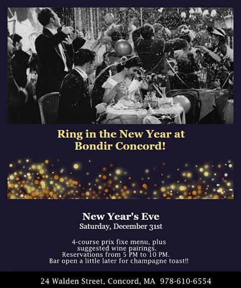 Join us for New Year's! Click the link in our profile for menu and more details! #2017 #AuldLangeSyne #NewYearsEve #RobertBurns #ConcordMA