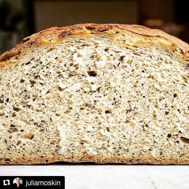 #Repost @juliamoskin with @repostapp ・・・ All about rye bread: Nordic, Jewish and not. Love the crumb of this loaf shot by @evansungnyc at @orwashers bakery, their classic sissel rye. Article and recipes at @nytfood, through the link.