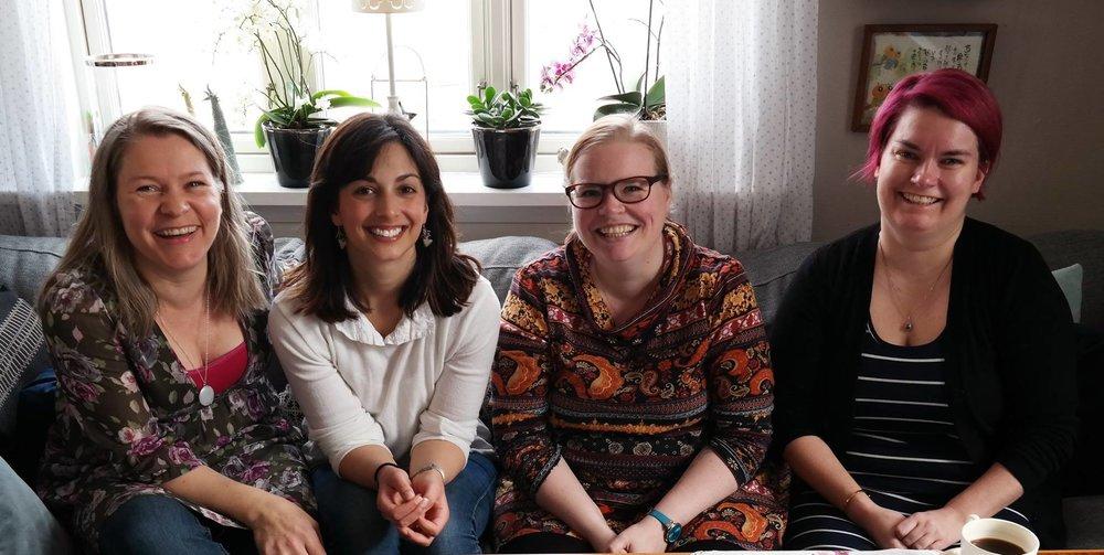 From left to right: Kristin, Aiysha, Ingrid, Cathrine