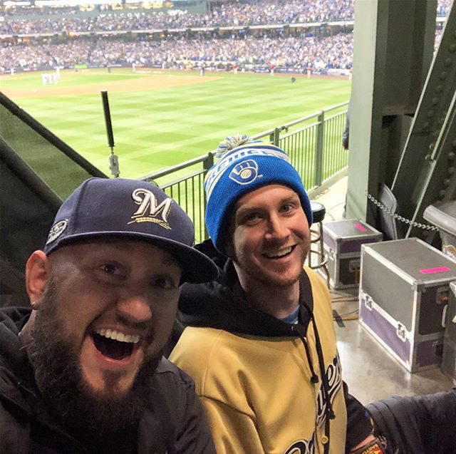 #NLCS Game 1. With my brother. Good times! #GoBrewers