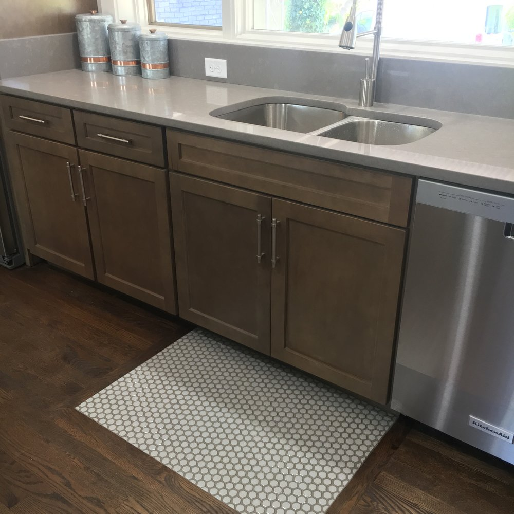 Custom cabinets, quartz countertops