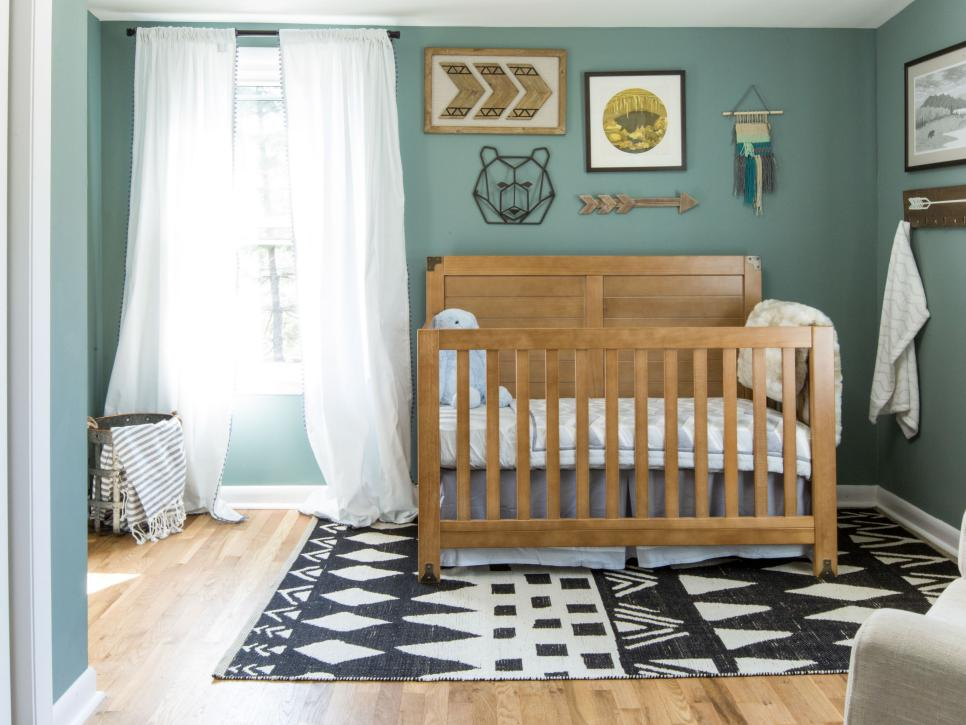 Rug, Jaipur (available to order through LAVA.) Crib and chair from Target.