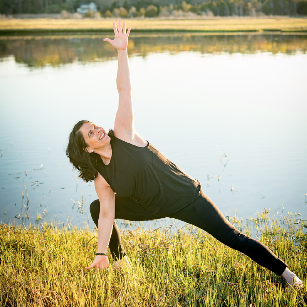"""""""More than a few times in my life I've had to be put back together again. During all those major milestones, yoga has always been an integral element in my healing and feeling whole. I practice yoga to live. I teach yoga because I think it offers something for everyone.""""   Kris has practiced yoga for the past 15 years at various studios throughout Boston and the South Shore. She truly believes yoga is for everyone and loves to be around when someone who may take a yoga class once a week as a stress reliever or a workout realizes they do indeed have """"a yoga practice"""". This happens when one's actions on the mat vibrates into what they do off the mat, infusing itself into their everyday lives. You simply can't prevent the two worlds from meeting and when they do – it's amazing to witness. When this moment happened for Kris, she felt compelled to share it with others and teach yoga for everyday life. Kris offers a thoughtful, deliberate, powerful class with something for all levels. Kris is humbled to share her passion for yoga with others.  Kris completed her 200 hour Yoga Teacher Training certification course under Nicole Burrill and Tim Kelleher."""