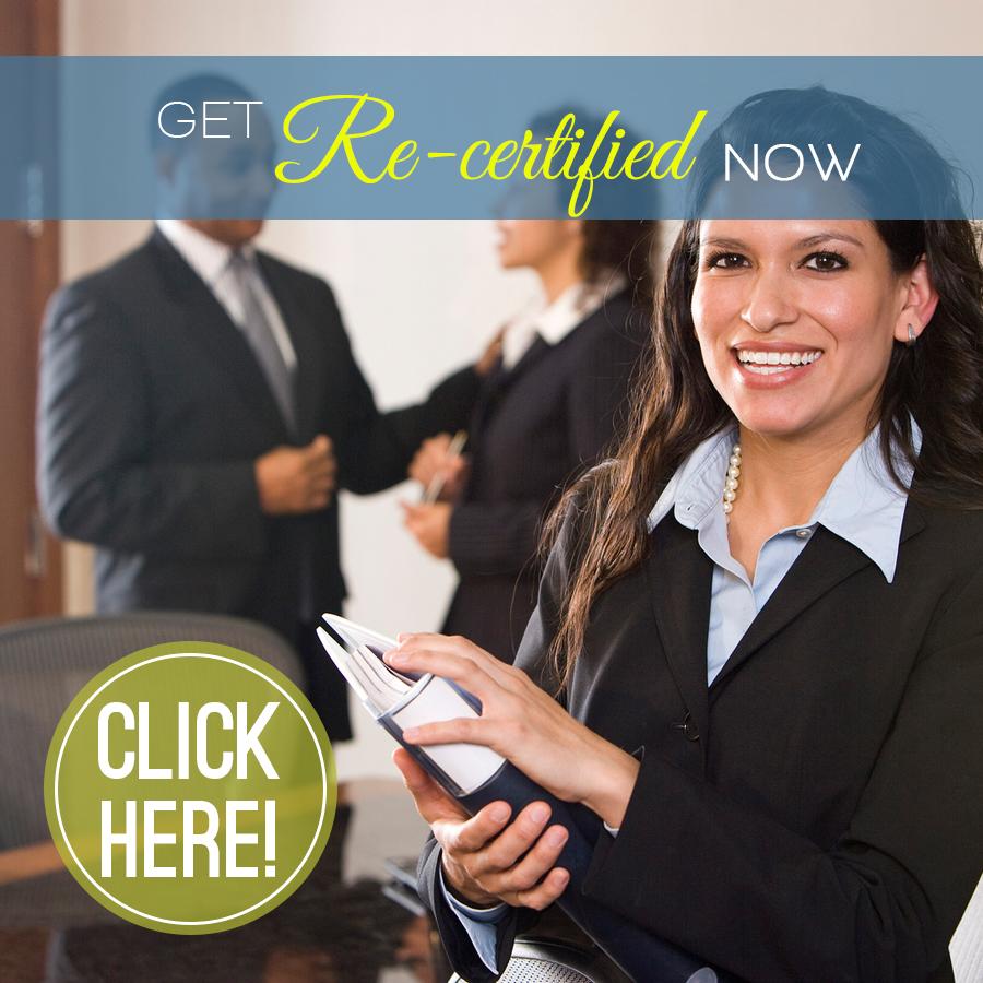 Get Re-certified