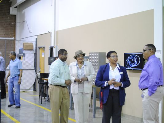 Congresswoman Alma Adams visited Core Technology Manufacturing to honor the company during Nat'l Small Business Week. (Photo: Core Technology Manufacturing Corp)