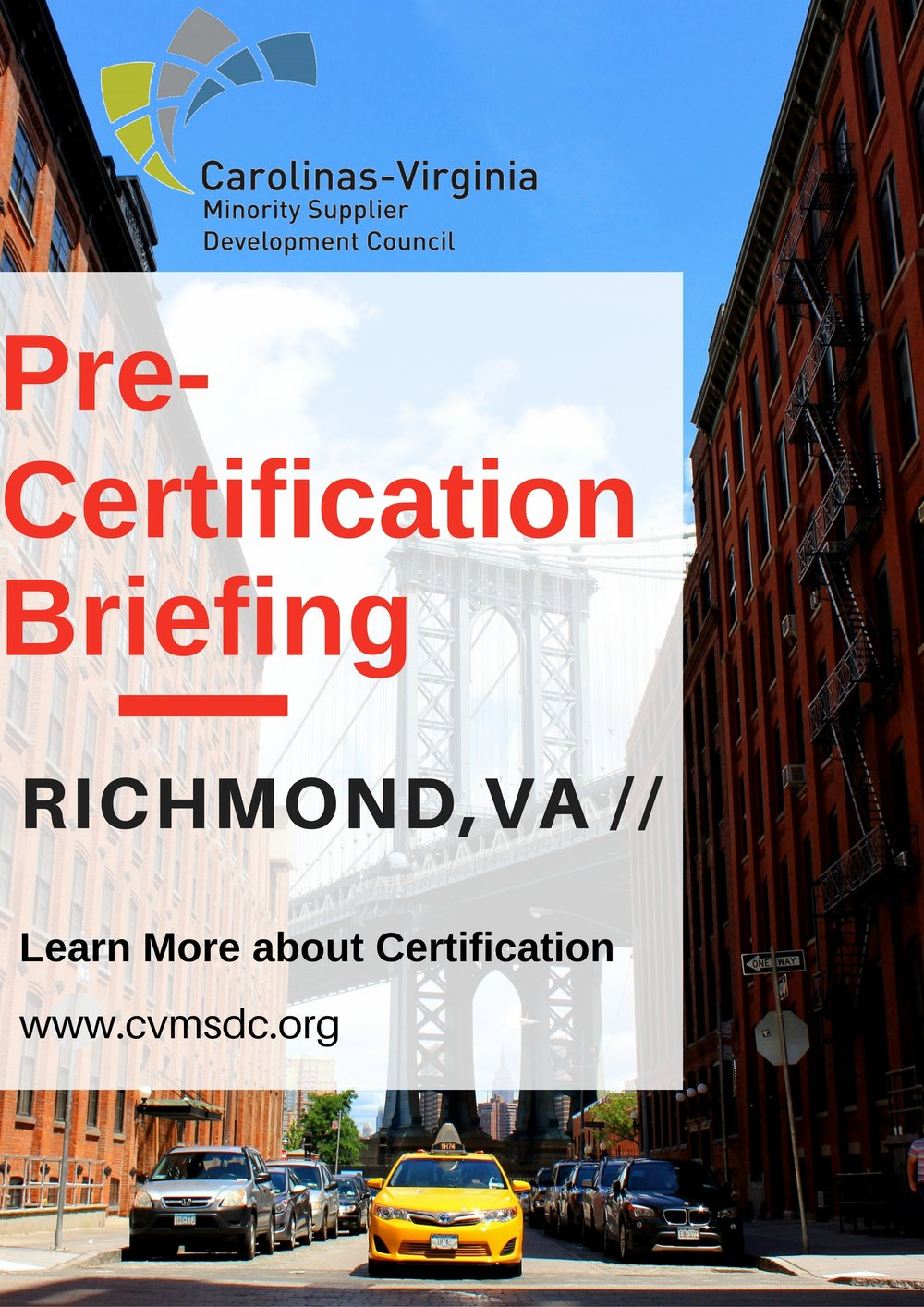 CVMSDC Pre-Certification Richmond, VA — Carolinas-Virginia MSDC