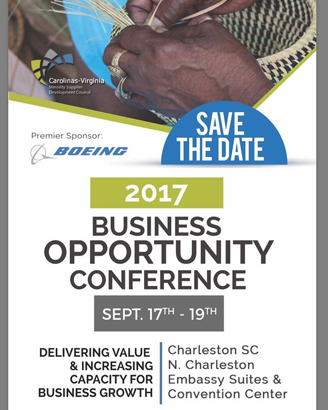Charleston, South Carolina...here we come! #savethedate #cvmsdc #nmsdc #2017BOC #2017businessopportunityconference #wearecvmsdc #wearenmsdc #charleston #charlestonsc #golftournament #supplierdiversity #minoritysupplierdevelopment #minority #entrepreneur #embassysuitescharleston #BOC#eventplanning #nonprofit #lifeatthecouncil #ferguson #golftournament