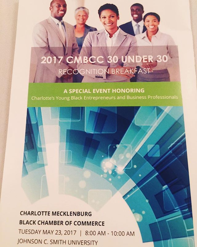 Congratulations to the honorees of the 2017 CMBCC 30 Under 30 recipients! . #cmbcc #charlotteblackchamber #charlotte #jcsu #recognition #breakfast #networking #2017honorees #strategicpartners #congratulations #millenials #cityofcharlotte #vilyles #charlottecitycouncil