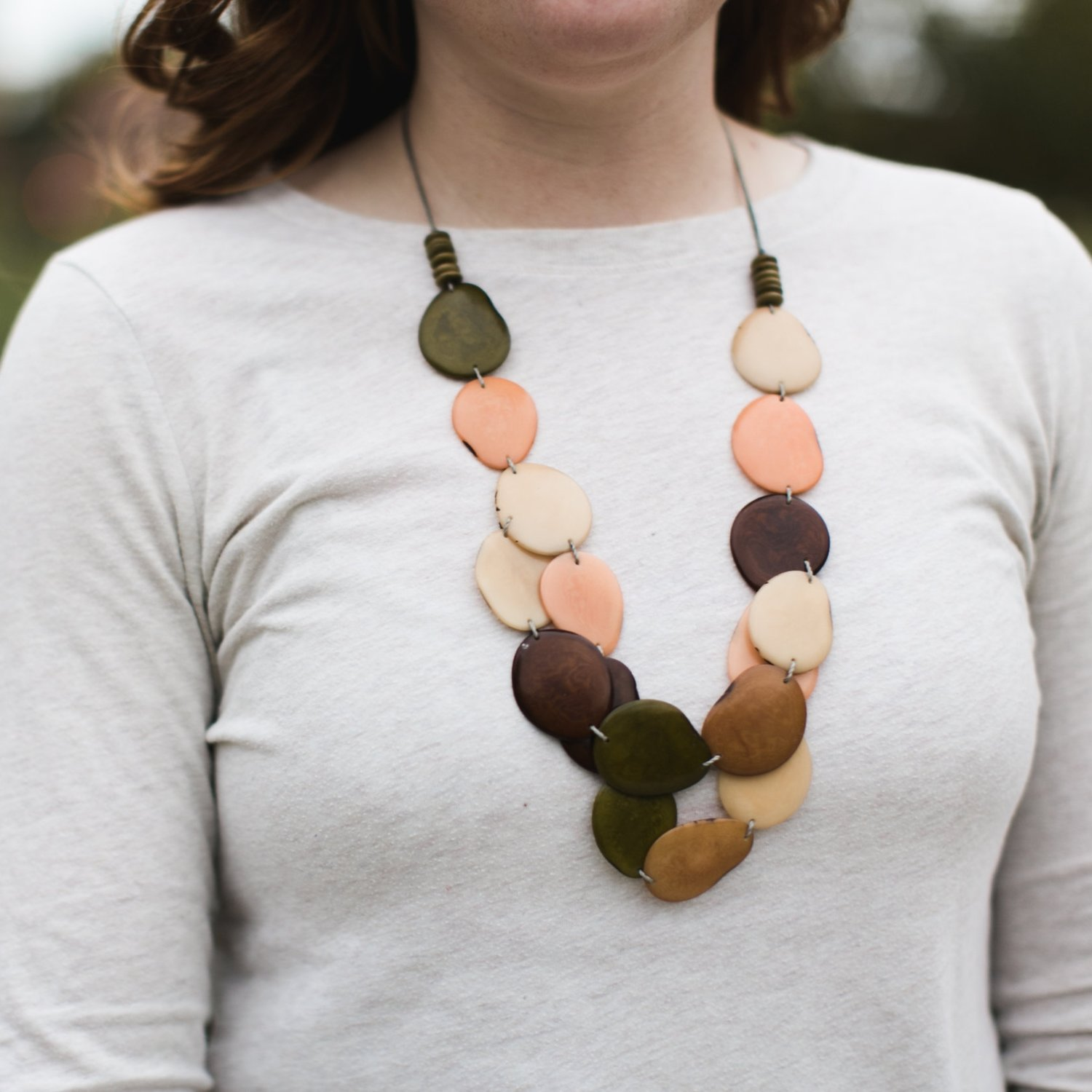 ivory beads standard tagua products ecofriendly statement necklace vegetable purple nut handmade