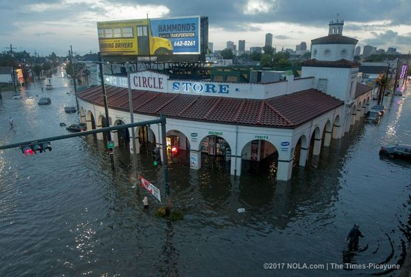 The iconic Circle Food Store in Tremé, which suffered extensive damage from Hurricane Katrina, after the August 2017 flash flood.