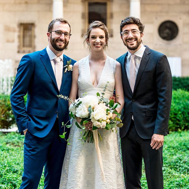 And now for the crowd favorite! Thank you for marrying us @billyjackkaplan aka Dad. You've been there since literal day one when we met IRL. We laughed. We cried (you more than us). We ketubahed. We hora'ed. You rhymed a lot. We danced. You danced where you weren't supposed to. You made us so so so happy. We love you #kapdad 📷 @snap_weddings