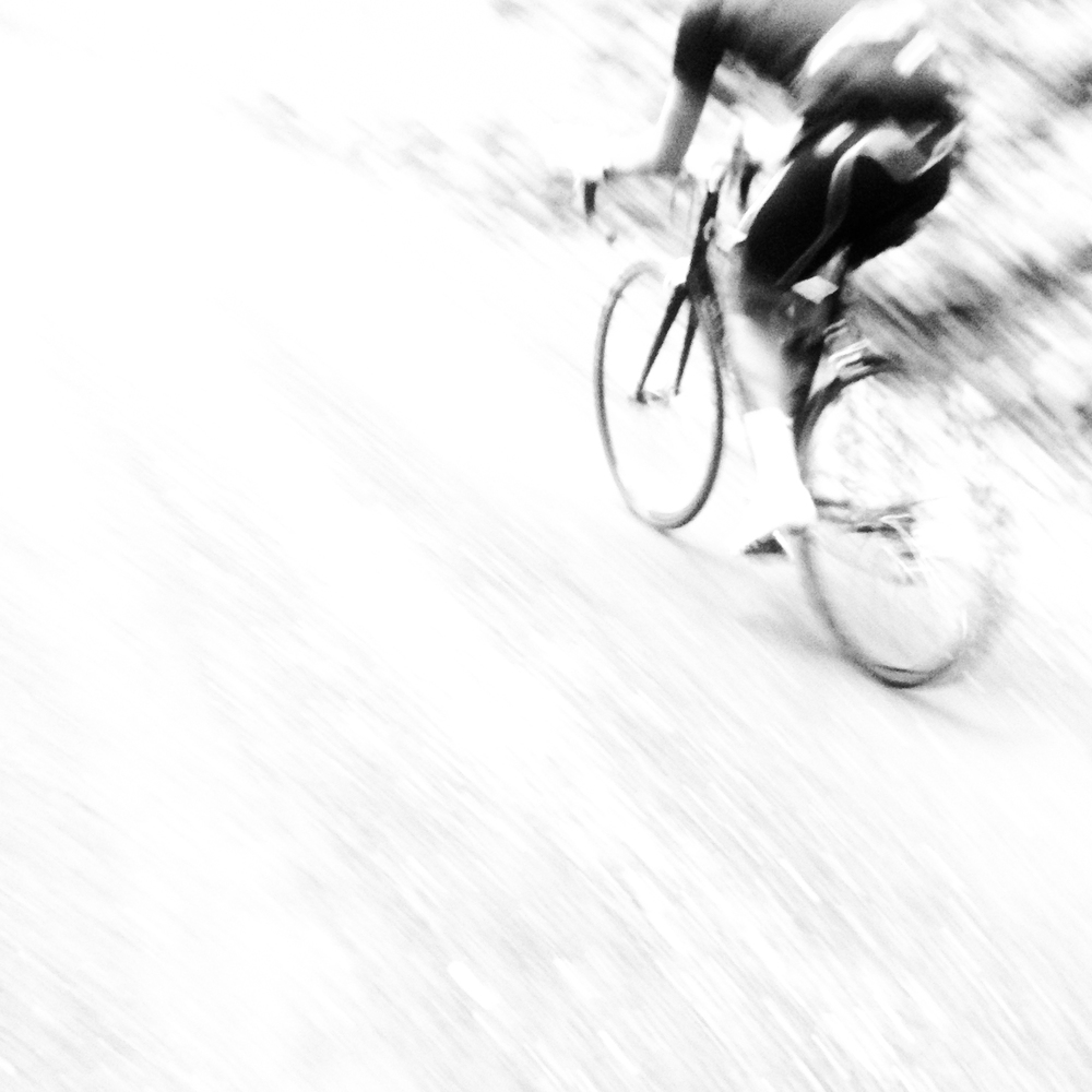 Fast Road Cyclist Motion Blurred