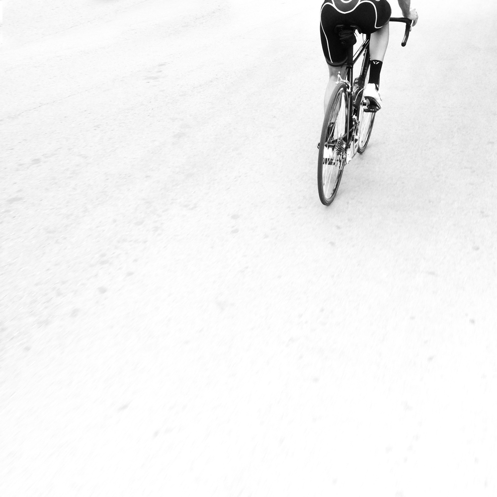 Minimal Black and White Road Cycling