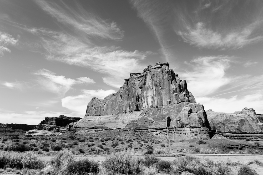 Massive Rock Formation in Arches National Park