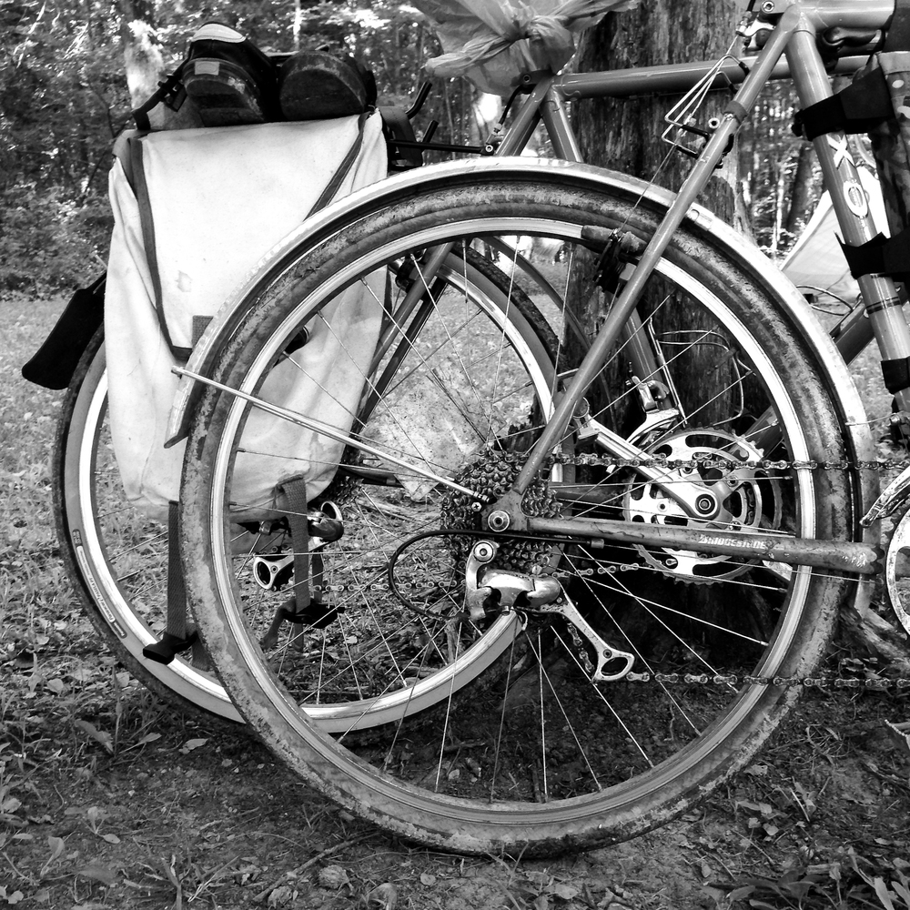 Bike Camping with Dirt and Mud