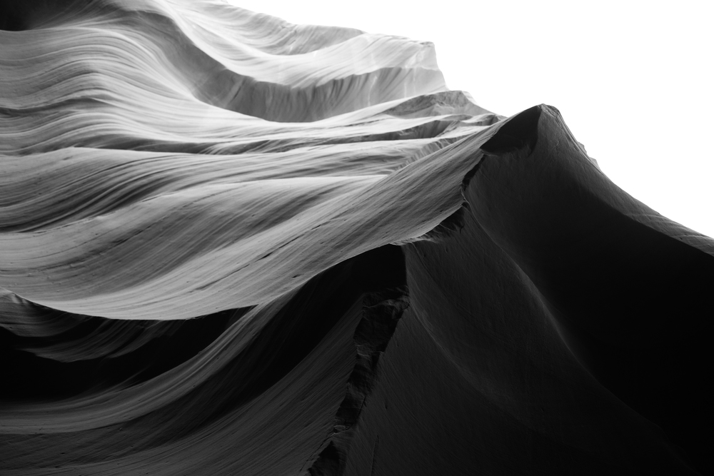 Textures on Walls of Antelope Canyon