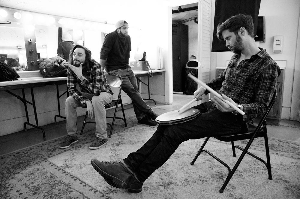 Kevin Etzler, Colin Shultzaberger, Evan Durr Backstage