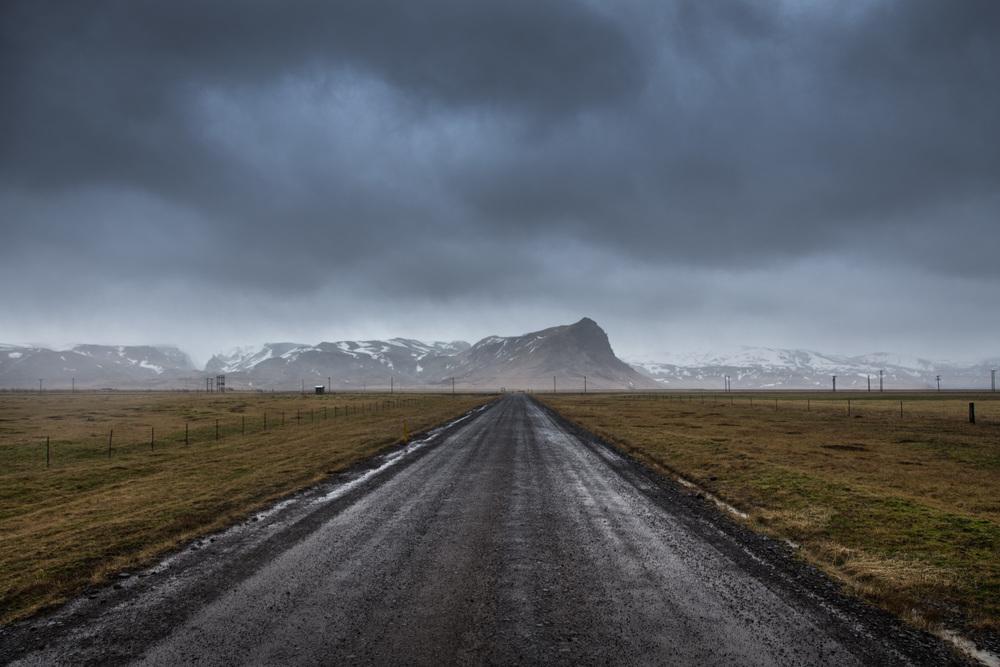 Iceland weather photography in Skógar