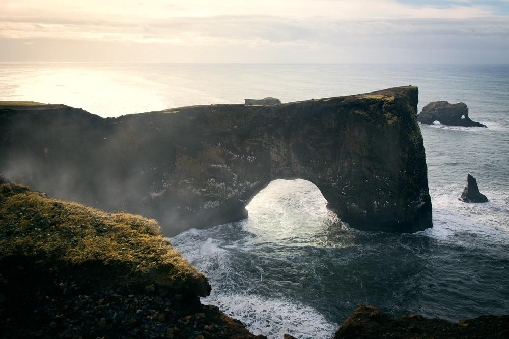 Travel photography in Iceland of Dyrhólaey