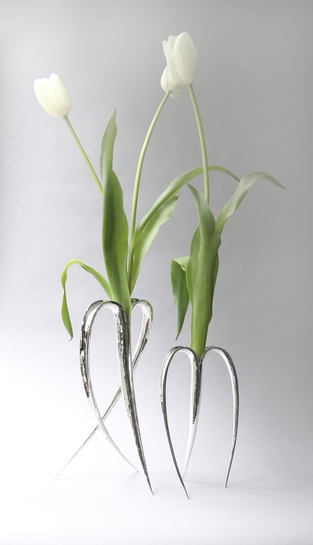 Blade Vases Silver