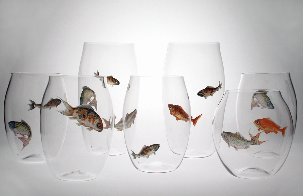 Painted Fish Glasses