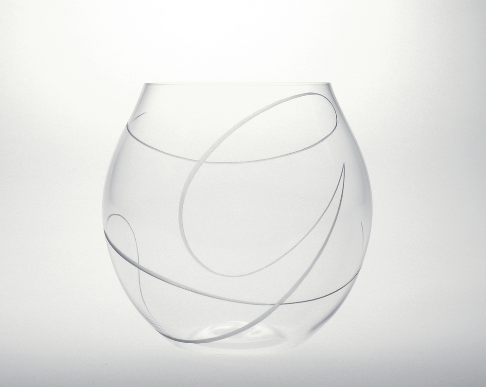 Initial Engraved Balloon Glass