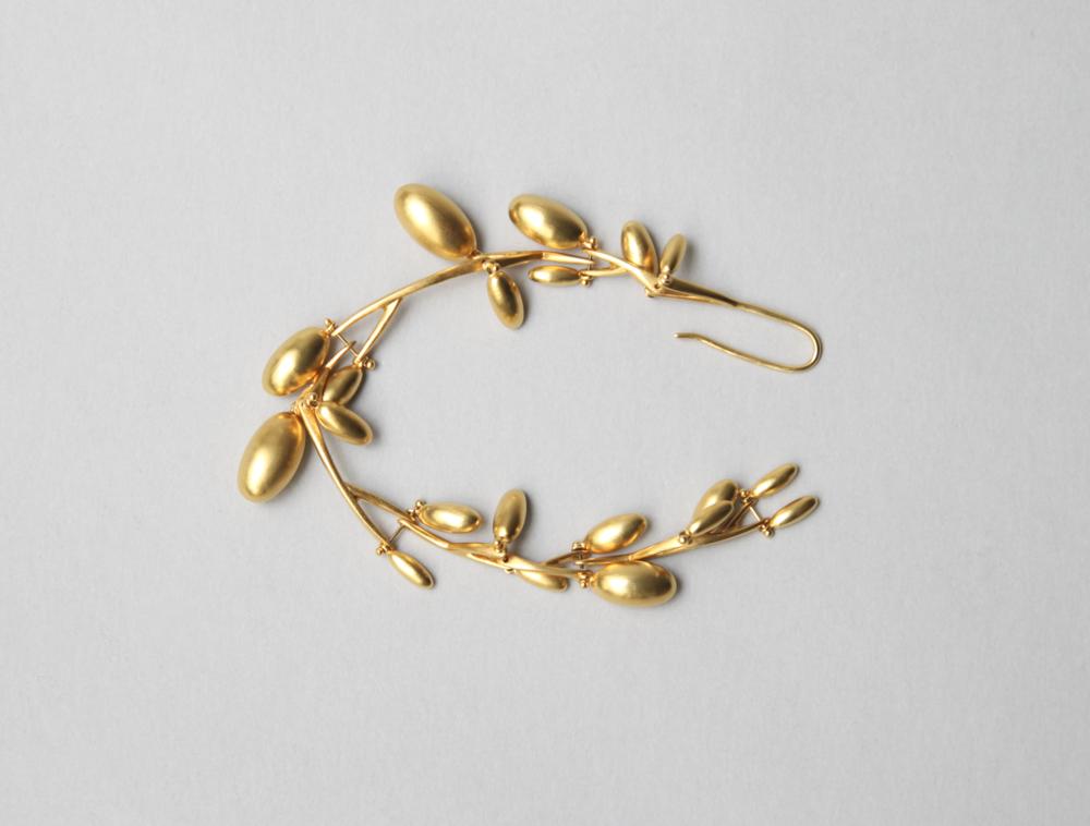 Olive Branch Bracelet Gold Plate