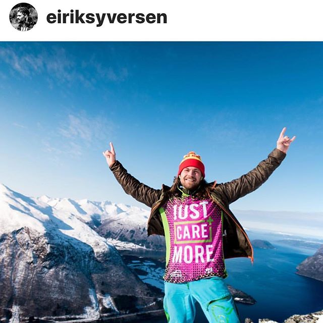 Big shout out to our first International team member @eiriksyversen, can't wait to see your version of RAD! . Give him a follow to see how the Vikings live! . #TeamJustCareMore  #vikings #Norway #Actionsportspole #CampCareMore #basejump #skydive #adventure