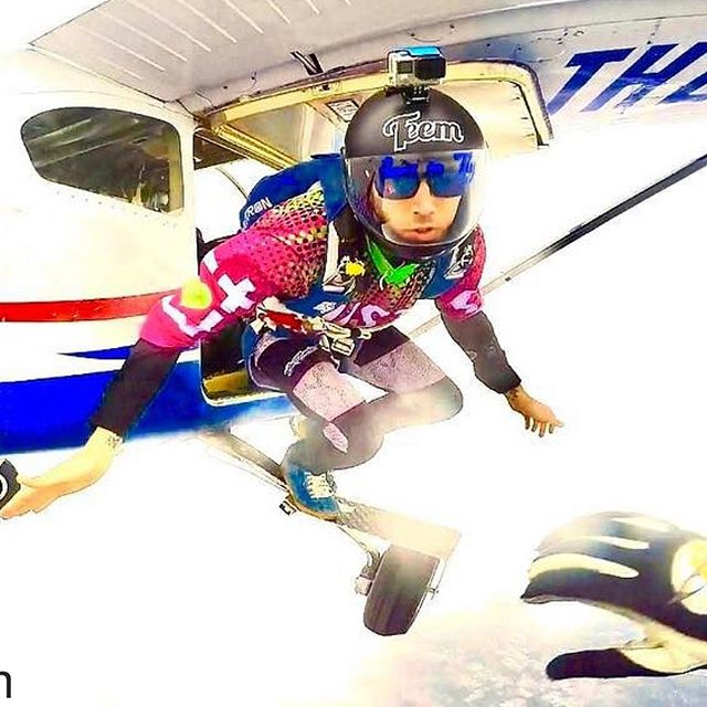 Oh hey @hudstorm, let's go be RAD. #Repost @hudstorm ・・・ Love this shot! #justcaremore #recklessandrelentless #benttofly #freedomraw #skydiveamazing