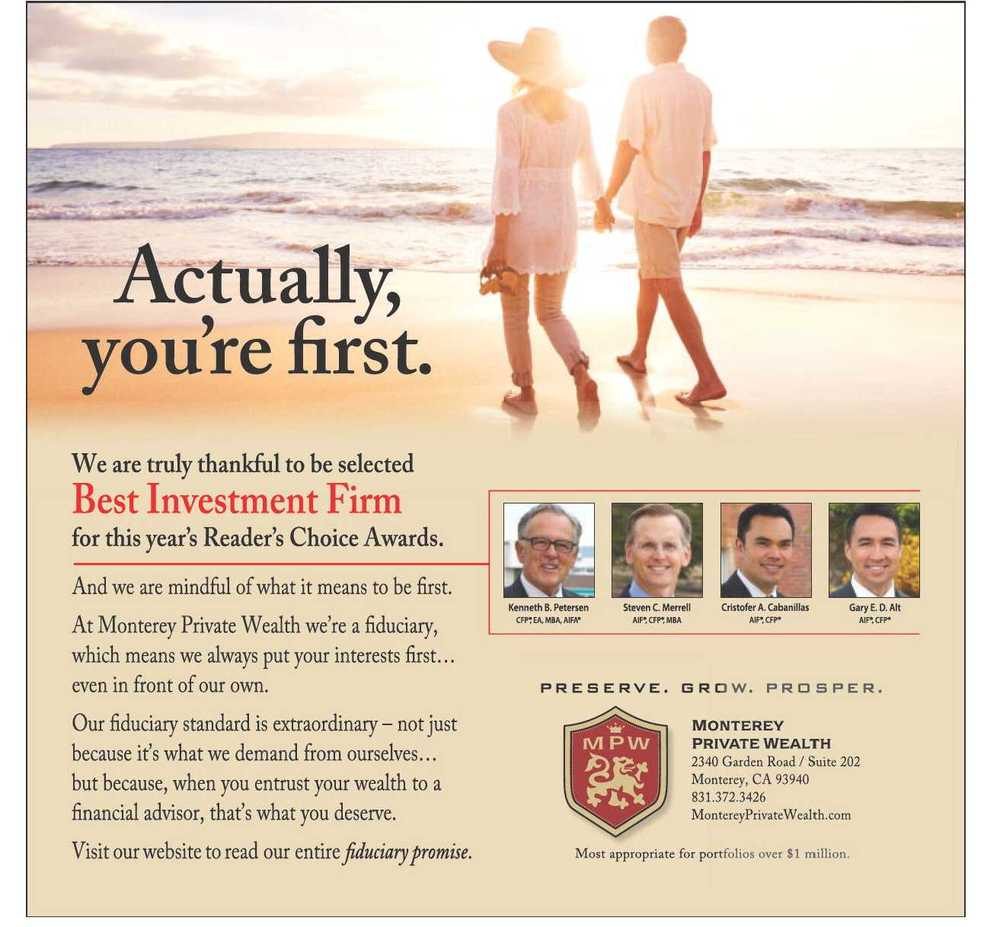 monterey private wealth voted best investment firm monterey herald