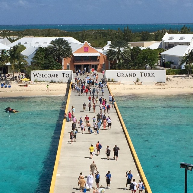 Just arrived in Grand Turk. Beautiful day.