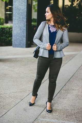 The Third Piece Rule Applied to Work Outfits || www.mycubiclechic.com