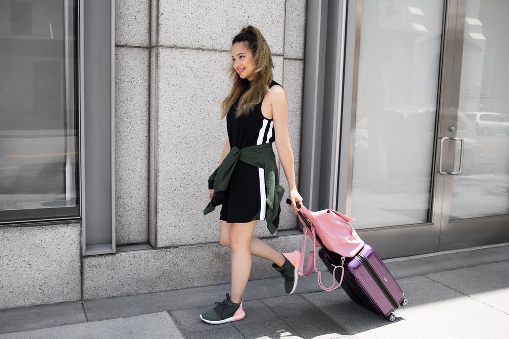 Airport Travel Outfit || Sporty Chic On The Go by Cubicle Chic