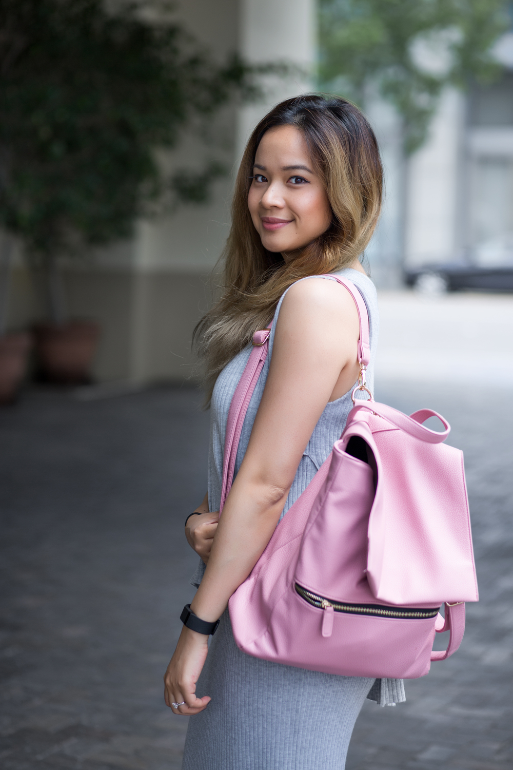 Backpack: ASOS; similar: here, here, and here. Dress: ASOS, similar: here, here.