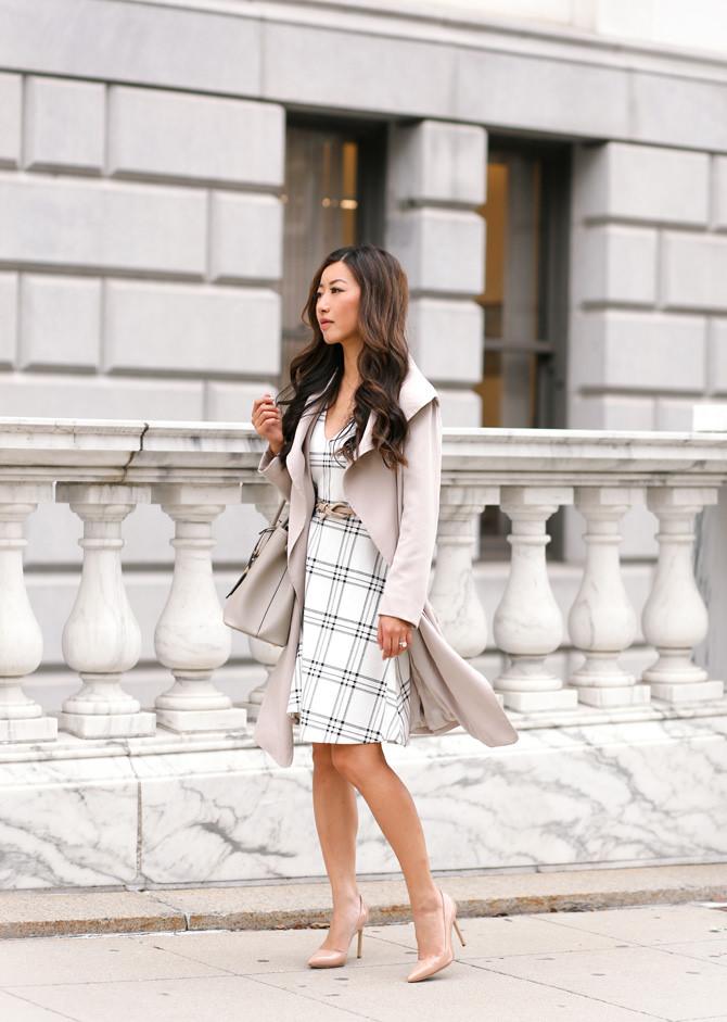 Extra Petite || Maison Jules windowpane dress