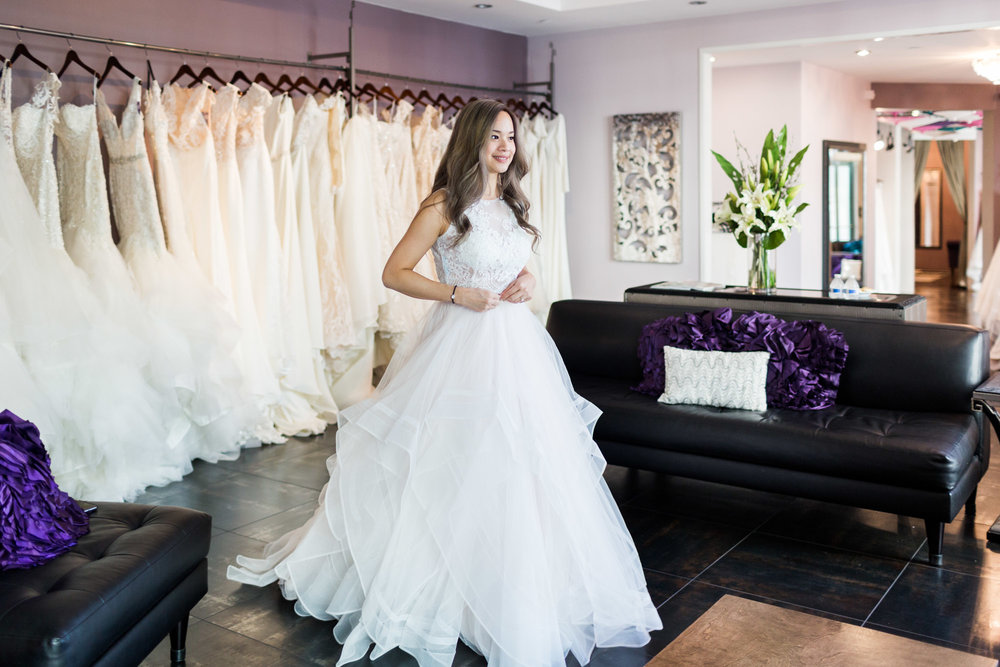 A Fashion Blogger's Perspectives on Wedding Gowns Trying-On  || Lea Ann Belter Top Arabella & Wtoo Skirt- Effie