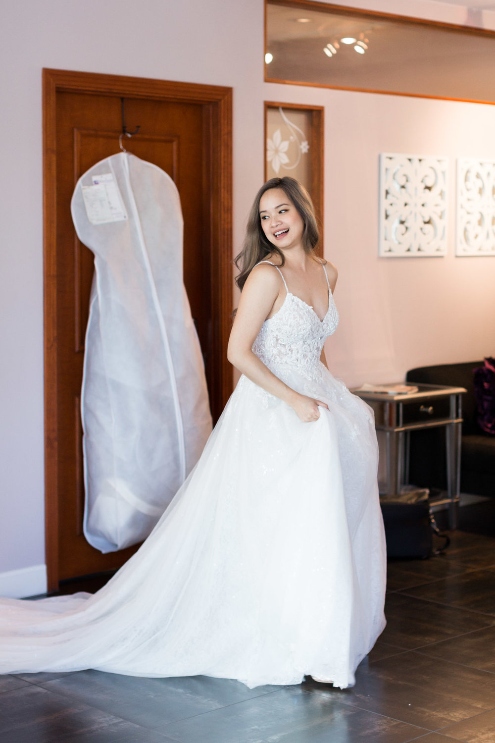 A Fashion Blogger's Perspectives on Wedding Gowns Trying-On || Martina 822 Liana