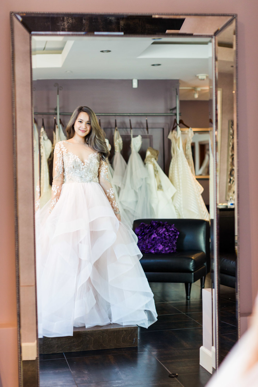 A Fashion Blogger's Perspectives on Wedding Gowns Trying-On || Hayley Paige Lorelei Gown