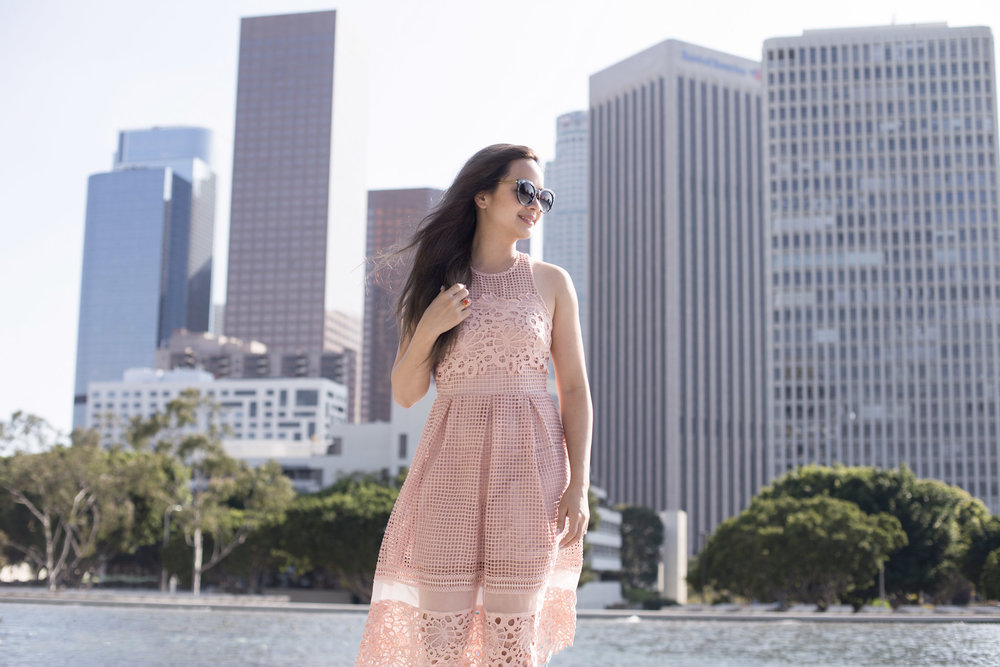 My Bridal Shower Outfit || Morning Lavender Lynette Dress in Pink